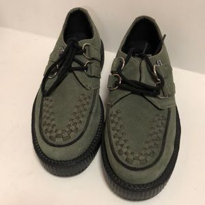 TUK Suede Skin Boots S 5 Green & Black